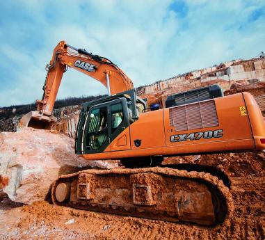 CASE CX 470C la lucru in carierele de la Botticino