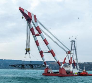 Cum arata macaraua din Romania care ridica cel mai lat pod din lume in valoare de 3 mld. $